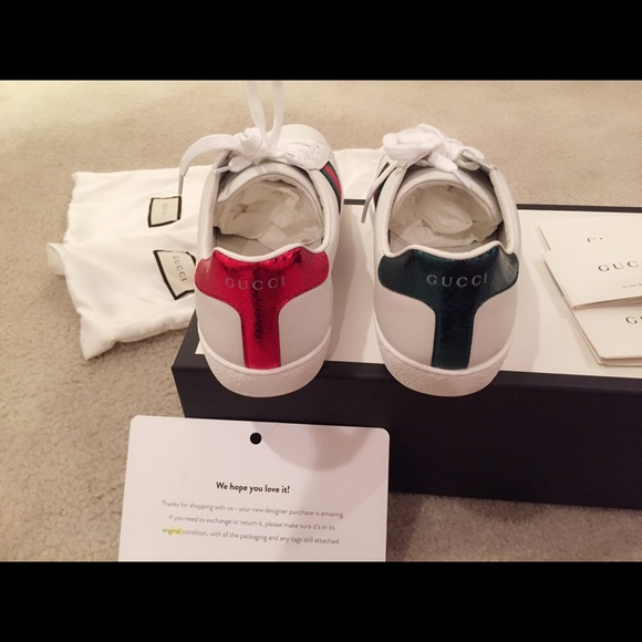 3693ec9e764 Gucci Other - 🎈Gucci White Snake Ace Sneakers🎈made in Italy